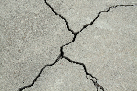Photo for cracked concrete cement sidewalk foundation - Royalty Free Image
