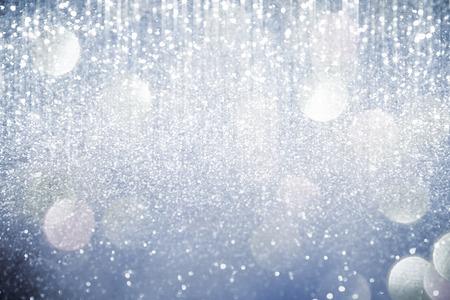 Photo pour Abstract silver  lights on background - image libre de droit