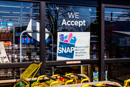 Photo for Muncie - Circa January 2018: A Sign at a Retailer - We Accept SNAP - Royalty Free Image