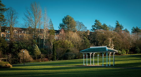 Photo for Ornate shelter in the Valley Gardens, Harrogate - Royalty Free Image