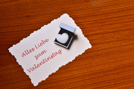 Photo pour Card with lots of love for Valentine's Day - image libre de droit