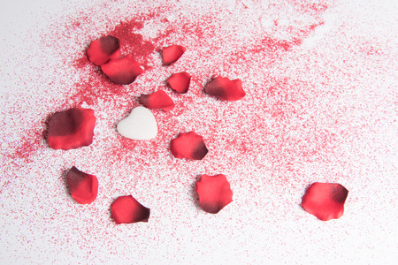 Photo pour heart and rose for valentines \ 'day - image libre de droit