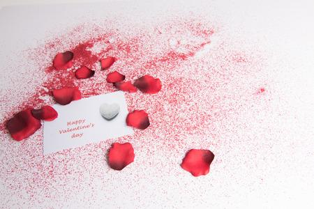 Photo pour heart and rose for valentines \ 'day - image libre de droit