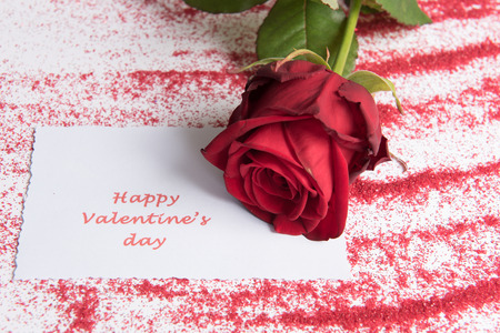 Photo pour Rose for Valentine \ 's Day - image libre de droit