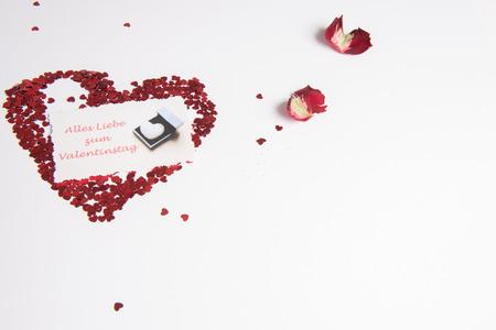 Photo pour Heart of hearts as love sign - German - image libre de droit