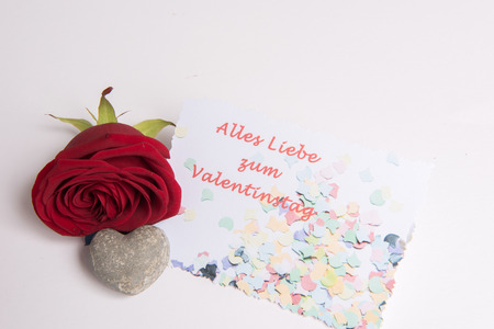 Photo pour Rose and heart and everything Card - image libre de droit