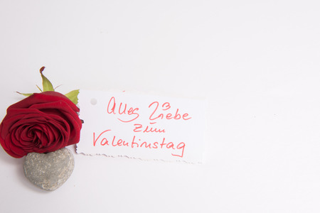 Photo pour Rose and heart and Card All my love for Valentine \ 's Day - image libre de droit