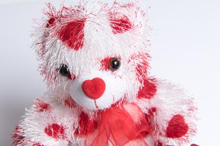Photo pour Love Bear with hearts - image libre de droit