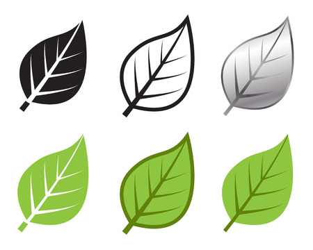 Illustration for Herb leaf icon in many style, Vector illustration - Royalty Free Image
