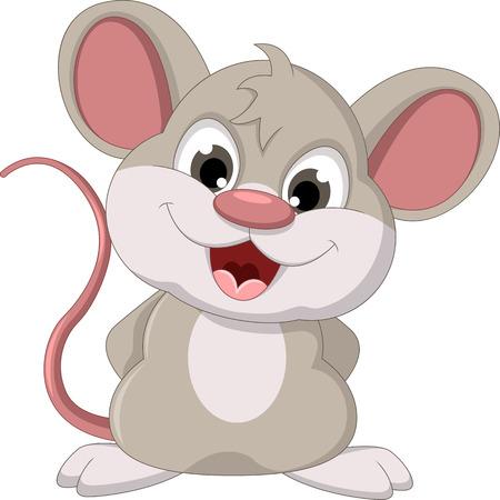 Illustration pour cute mouse cartoon posing - image libre de droit