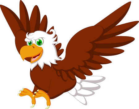 Illustrazione per Cute Eagle cartoon - Immagini Royalty Free