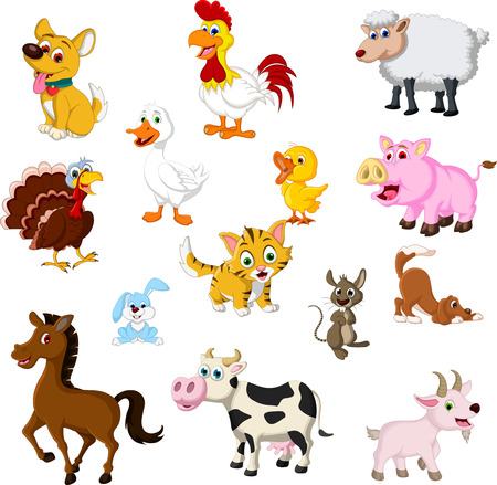 Photo for farm animal cartoon collection - Royalty Free Image