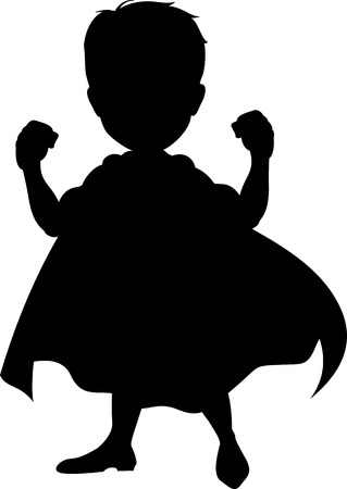 Ilustración de superhero silhouette for you design - Imagen libre de derechos