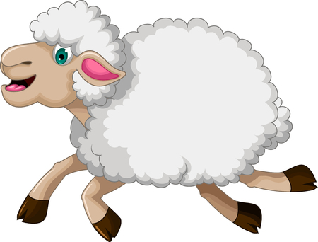 funny sheep cartoon