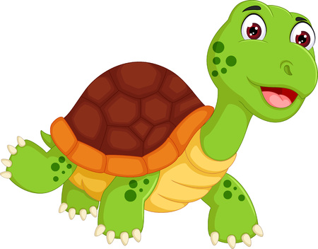 Foto de Funny turtle cartoon walking with laughing - Imagen libre de derechos