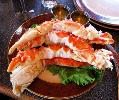 Foto de food crab of legs ,alaska food - Imagen libre de derechos