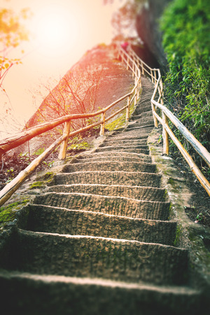 Photo for Stair on mountain - Royalty Free Image