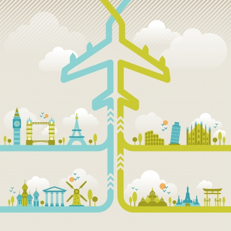 Foto de Infographics elements  Travel and Famous Landmarks   - Imagen libre de derechos