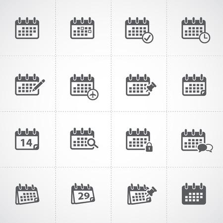 Illustration pour Calendar icon set - image libre de droit