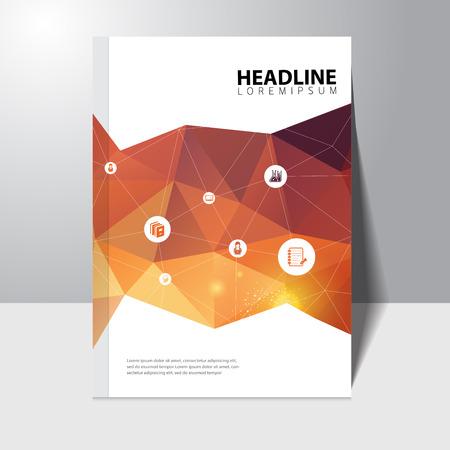 Illustration pour Vector education book cover design template with polygonal background - image libre de droit