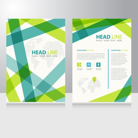 Ilustración de Abstract Business internet online communication Brochure Flyer design vector template - Imagen libre de derechos