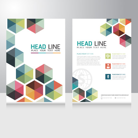Illustration pour Abstract Triangle Business Brochure Flyer design vector template - image libre de droit