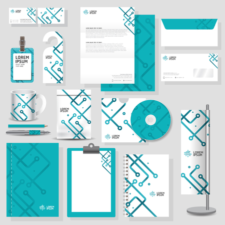 Illustration pour Technology corporate identity template Stationery design set in vector format - image libre de droit
