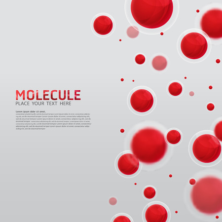 Illustration pour Abstract molecules design. Vector Medical scientific Atoms and biology cell. - image libre de droit