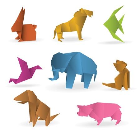 Photo pour Origami animals - image libre de droit