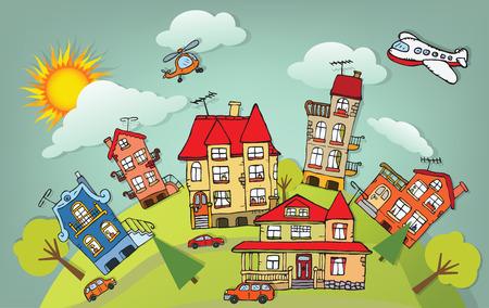 Photo pour Cartoon city - image libre de droit