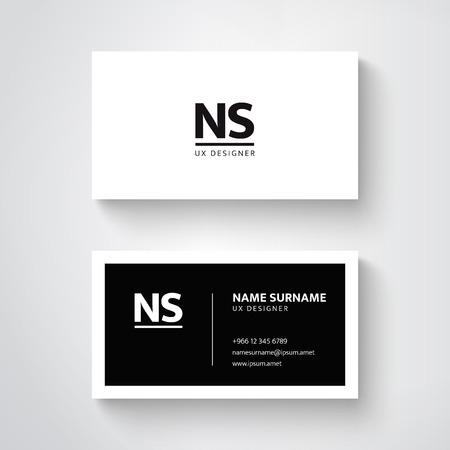 Ilustración de Vector simple  business card template, clean design - Imagen libre de derechos