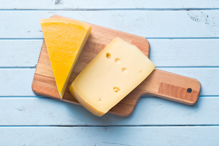 Photo for top view of edam cheese - Royalty Free Image