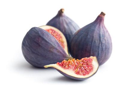 Photo pour sliced fresh figs on white background - image libre de droit
