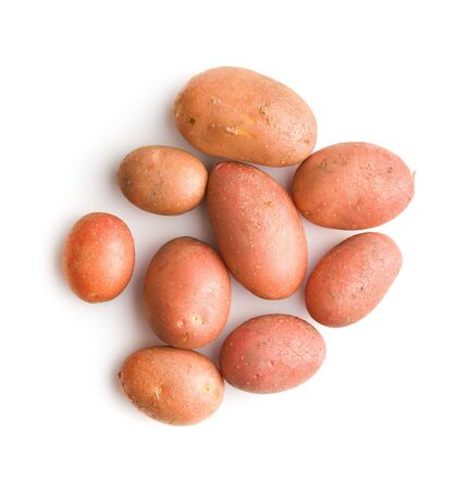 Photo for Fresh potatoes. Raw potatoes isolated on white background. - Royalty Free Image