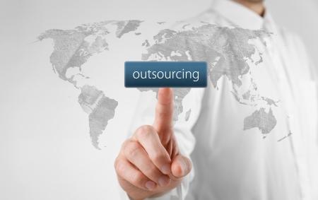 Foto de Outsourcing, globalization and global business strategy concept.  - Imagen libre de derechos