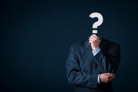 Photo pour Do you have a question? Business is full of questions concept. - image libre de droit