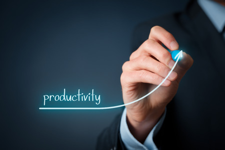Foto de Manager (businessman, coach, leadership) plan to increase company productivity. - Imagen libre de derechos