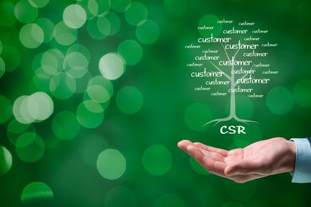 Photo pour Corporate social responsibility (CSR) concept. Corporate conscience, corporate citizenship and sustainable responsible business. - image libre de droit