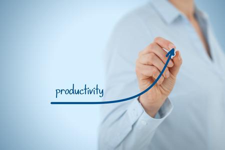 Foto de Manager (businesswoman, coach, leadership) plan to increase company productivity. - Imagen libre de derechos