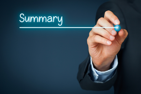 Photo for Summary heading - background template for business presentation. - Royalty Free Image
