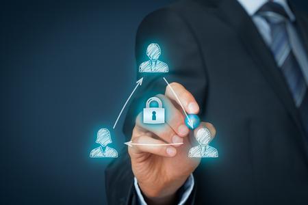 Photo pour Non-Disclosure Agreement (NDA) business concept. Confidentiality agreement (CA), confidential disclosure agreement (CDA), proprietary information agreement (PIA), or secrecy agreement (SA). - image libre de droit