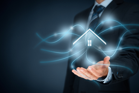 Photo pour Intelligent house, smart home and home automation concept. - image libre de droit