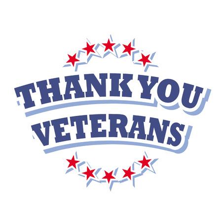 Illustration pour thank you veterans logo vector isolated on white background - image libre de droit