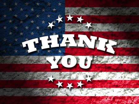 Foto de thank you card american flag grunge background - Imagen libre de derechos