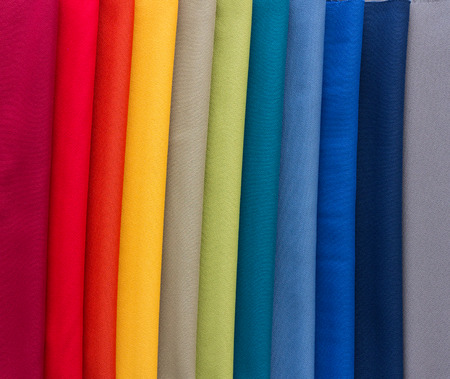 Photo pour Different Multi colored fabrics for upholstered furniture, chairs, sofas, etc  - image libre de droit