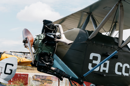 Photo pour Polikarpov Po 2 Russian Aircraft during air show - image libre de droit