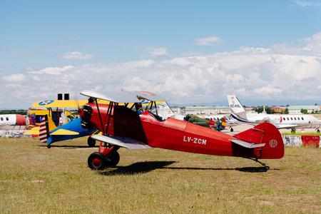 Photo pour Consolidated Fleet airplane during Air Show - image libre de droit