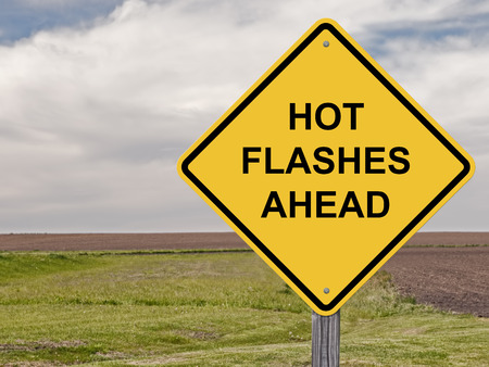 Photo for Caution Sign - Hot Flashes Ahead - Royalty Free Image