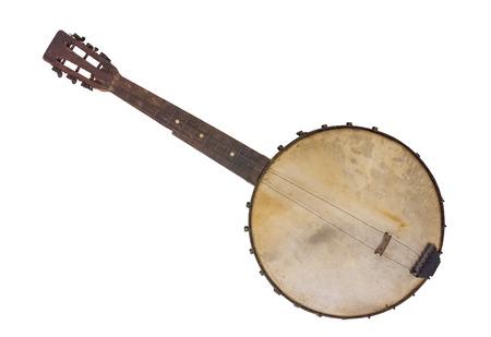 Photo pour Vantage Banjo -  Rim Made From A Cornsifter - image libre de droit