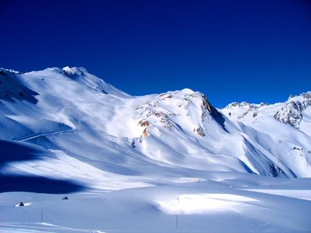 Landscape of high Savoy in winter